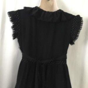 Betsey Johnson Dresses - Betsey Johnson Black Ruffle Polka Dot Dress